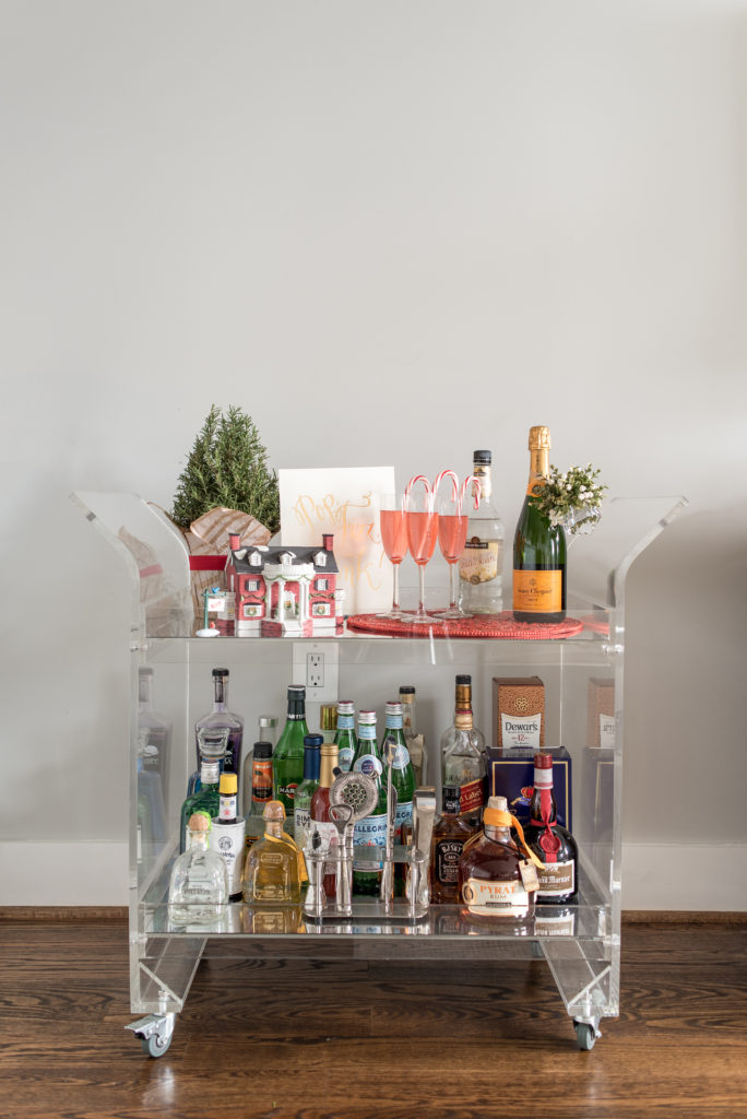 bar cart, holiday, entertain