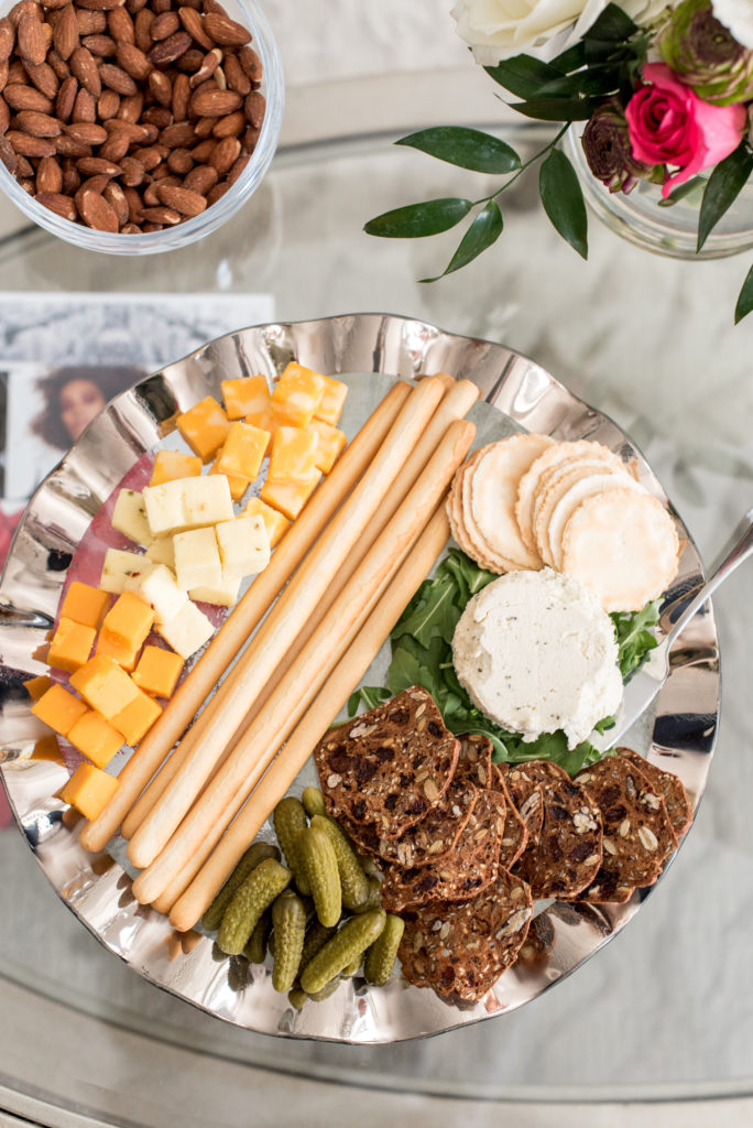 spring, cheese plate, platter, entertain, champagne darling