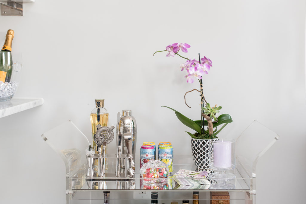 bar cart, styling, inspiration, easter, spring, seasonal, hostess