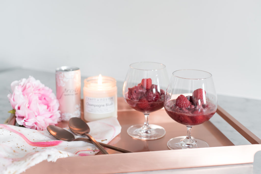 Raspberry, Rosé, Rosé Champagne, champagne, Sorbet, champagne sorbet, desserts, how to, recipe, hostess, celebrate, party, party ideas, inspiration, dessert making, presto wine