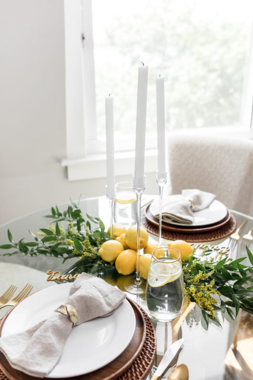fall table, rustic table, table and dine, table setting, tablescape, fall entertaining, fall, seasonal, how to, set a table, crate and barrel