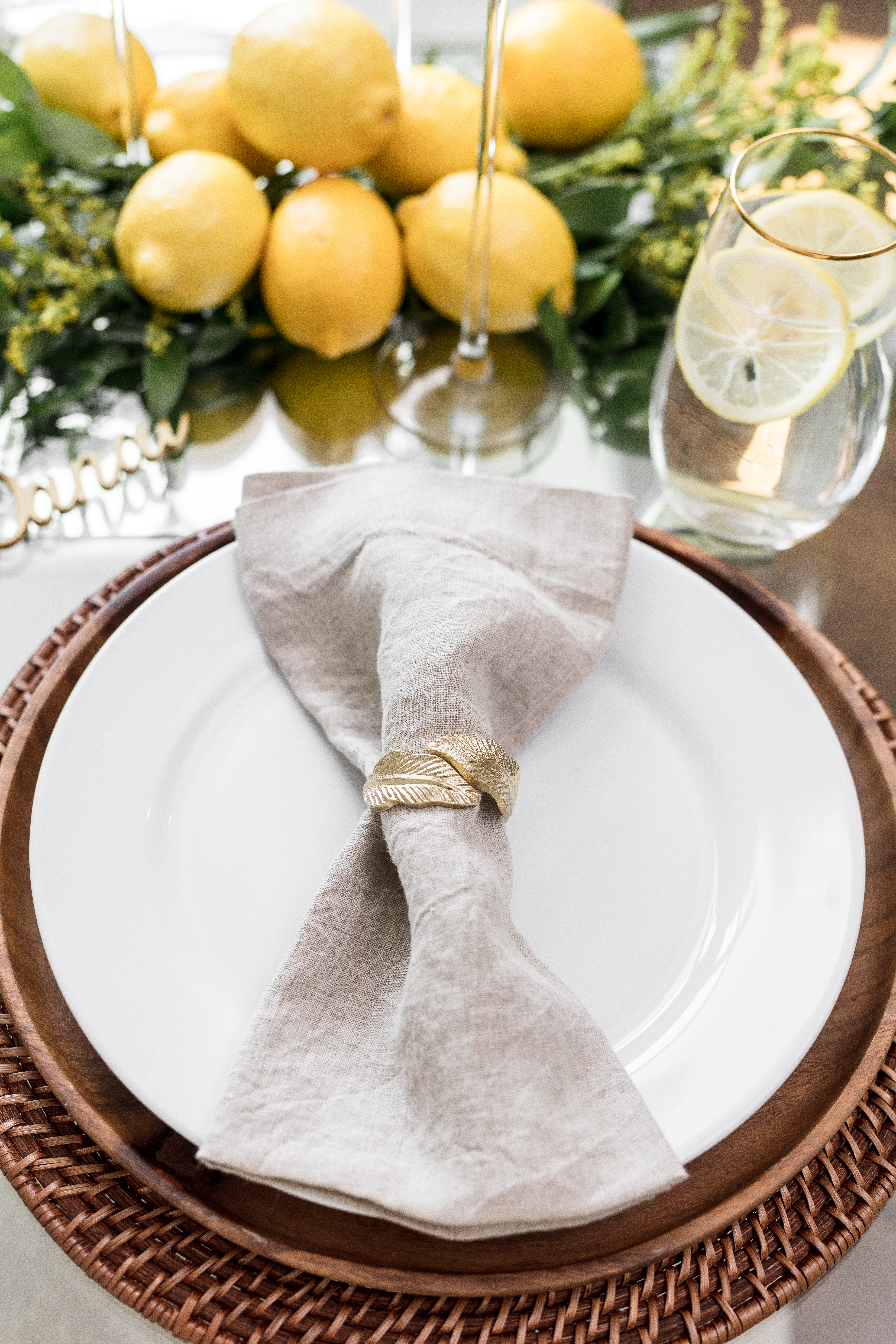 Rustic Table Setting Fall Crate And Barrel Napkin Ring Champagne Darling