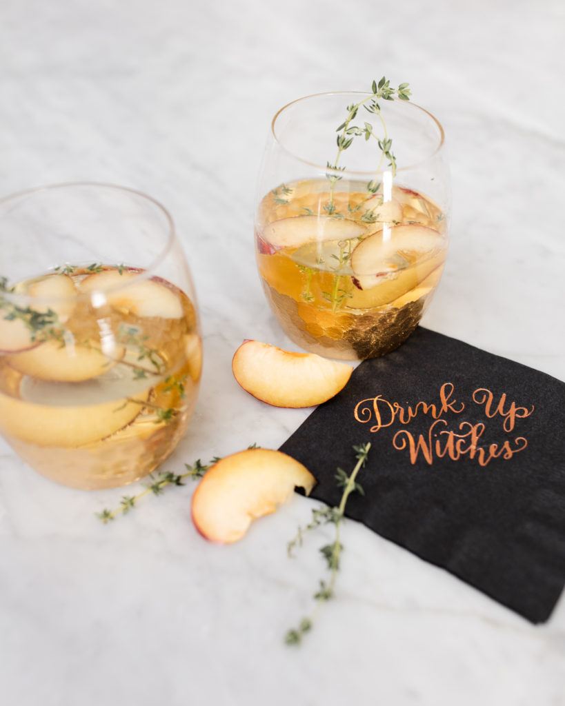 prosecco, plum, thyme, spritz, cocktails, recipe, recipes, drinks, hostess, champagne