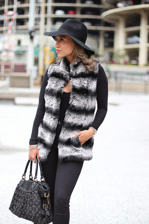 faux fur vests, rachel zoe, fur coats, fur vests, style