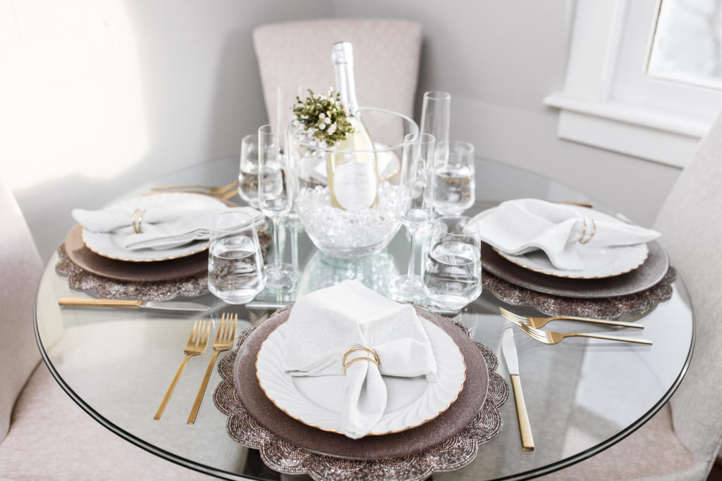 new year, winter white, table setting, tablescape, haviland china, dinner, dinner party, tablesetting