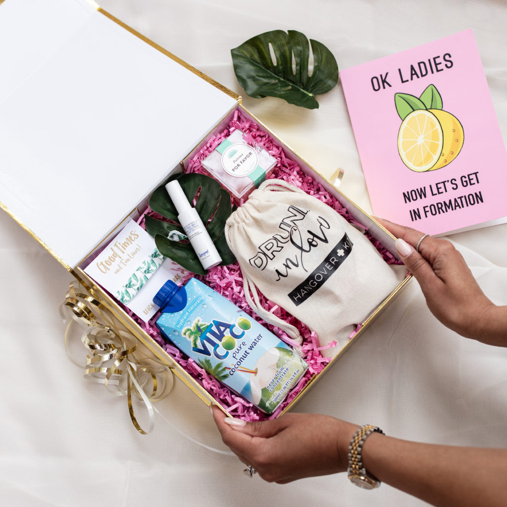 beyonce, bachelorette, party, welcome box, bride to be, formation