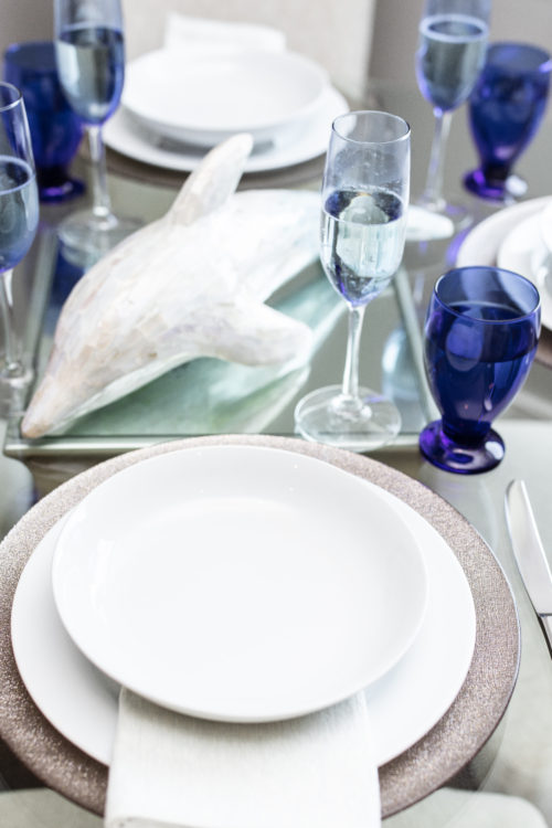 nautical, tablesetting, tablescape, blue, dinner, entertaining