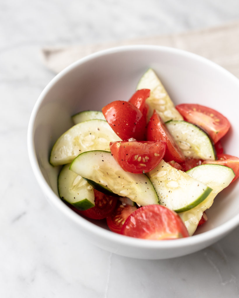 cucumber tomato salad, side dish, easy recipe, recipes, healthy